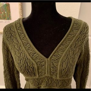 Loft embroidered sweater top
